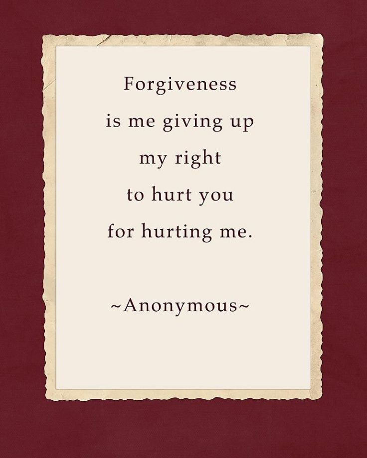 And believe me. It takes a lot of effort and timr to get to a place of forgiveness. I know. I've been working on it for years.