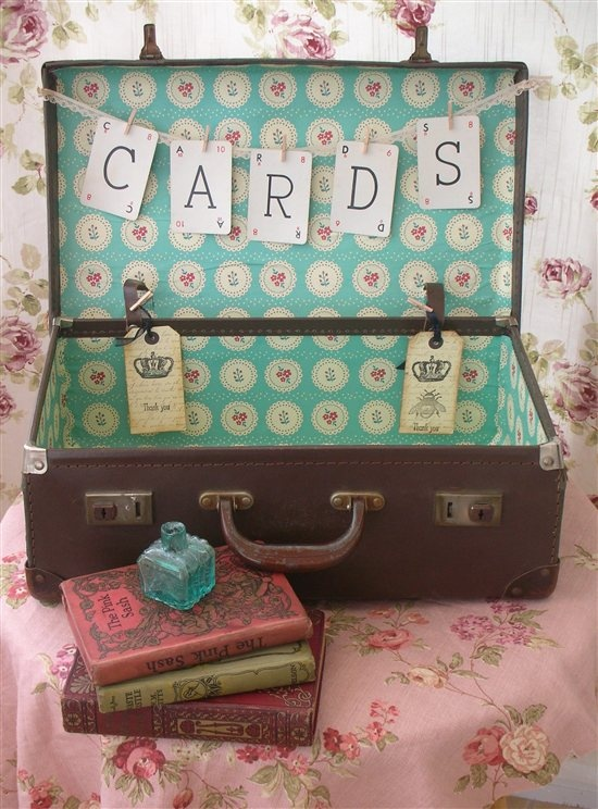 Vintage cards suitcase (after)