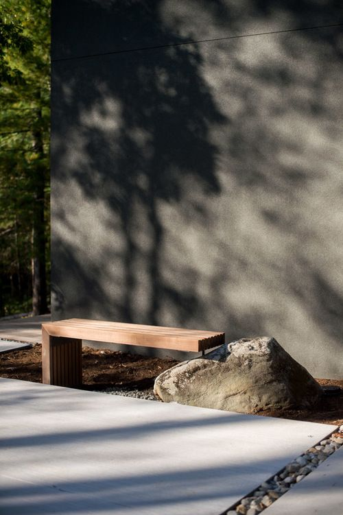 ipe bench designed by Anna Boeschenstein