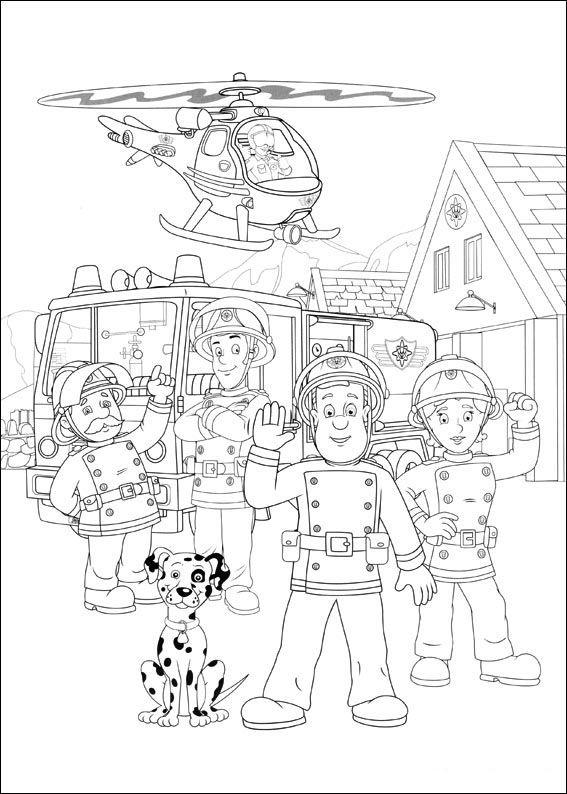 Malvorlagen Feuerwehrmann Sam 24 | kinder