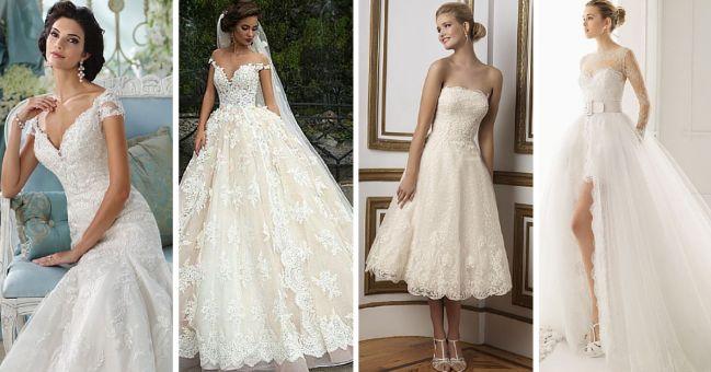 Una tendencia romántica que no pasa de modaSi estás soñando con el vestido de ensueño para tu boda, uno con el que puedas lucir glamurosa y con un estilo delicado, como de cuento de hadas, entonces una de tus mejores opciones son los diseños que están creados con encaje.Los vestidos de novia de encaje tienen caut