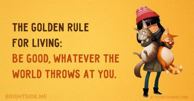 The golden rule for living