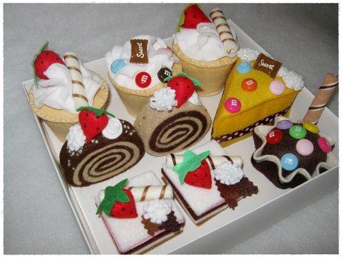 filc süti szettek + ujjbáb csomag, Dekoráció, Játék, Báb, Baba, babaház, Meska