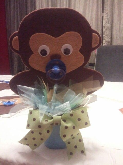Monkey theme baby shower centerpiece