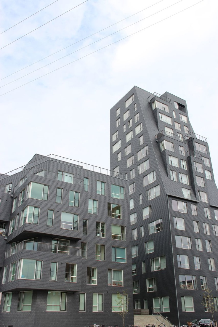 The residential complex Fyrtårnet, the first CUPA natural slate façade in Denmark | #slate #facade #design #exterior #architecture