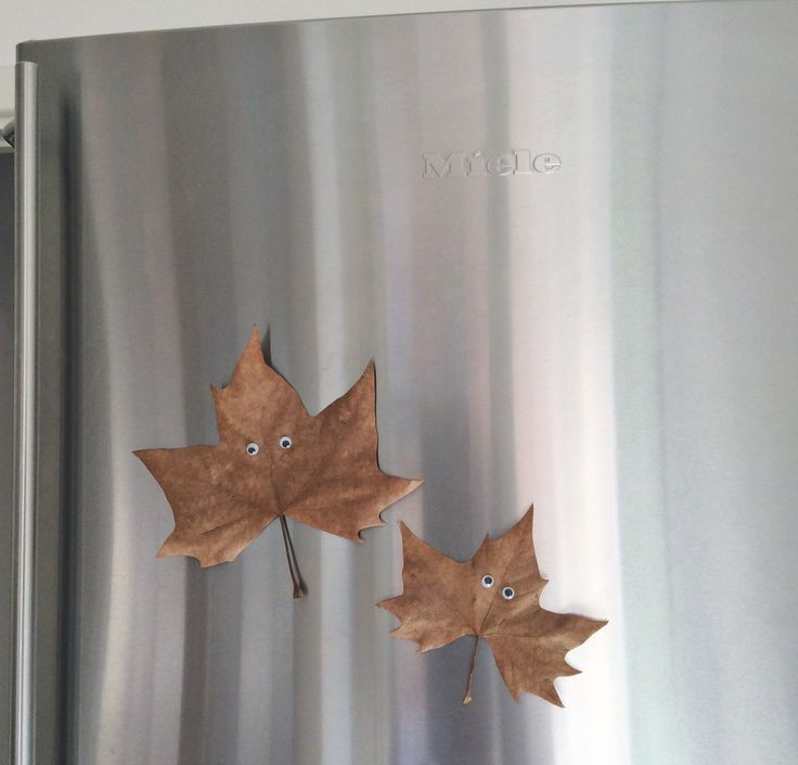 mommo design: DESIGNTIME - Fall crafts - DIY leaves magnets
