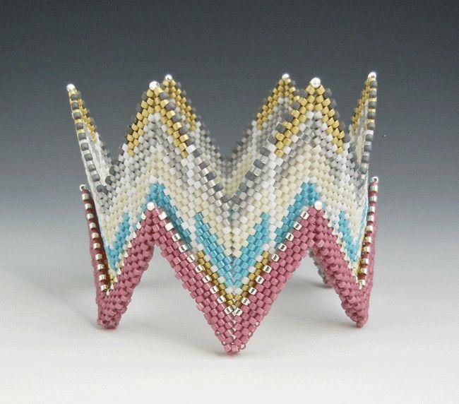 Rick Rack Cuff inspired by Contemporary Geometric Beadwork