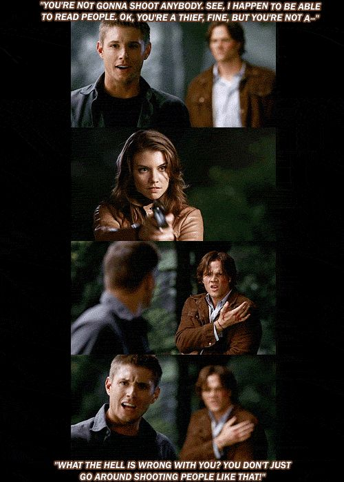 [GIFSET] Dean never quite got a handle on Bella XD 3x03 Bad Day At Bad Rock