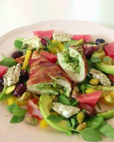Smartfoodtess: Pistage-pesto fylld kyckling