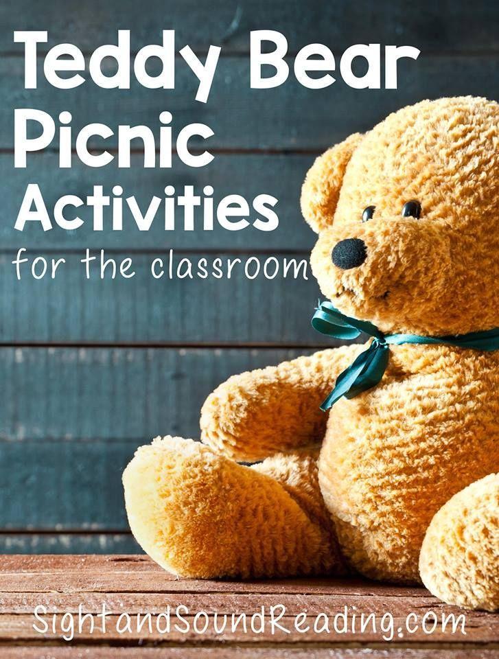 Teddy Bear Picnic Activities for Kindergarten: Fun activities to have a teddy bear picnic in a classroom. Great for preschool, kindergarten or first grade.