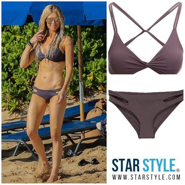 Christina El Moussa wore a LSpace bikini in Hawaii  Shopping info at www.starstyle.com