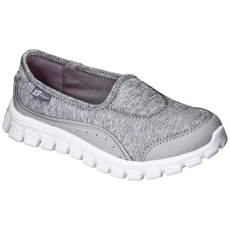 Women's S Sport Designed by Skechers Slip on Sneaker - Gray 8.5, Grey