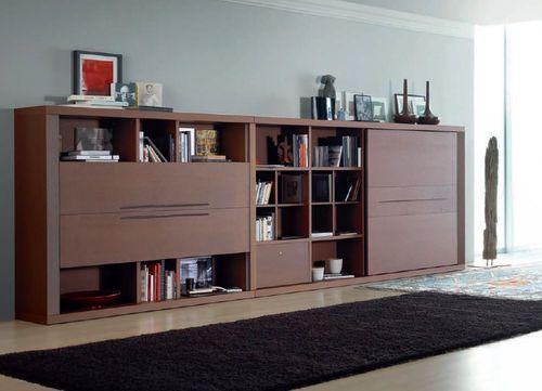 Amazing Moderne Wohnwand aus Holz COMPOSITION Calgari