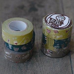 日本製 倉敷意匠計画室 猫屋敷 マスキングテープ 3色セット 20mm 45322-06 [masking tape ラッピング 幅広 和紙テープ デコレーション コラージュ シール ラッピングテープ かわいい]【楽ギフ_包装】【楽天市場】