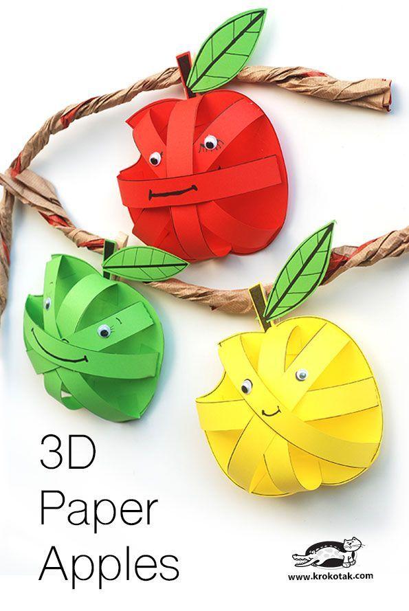 3D paper Apples