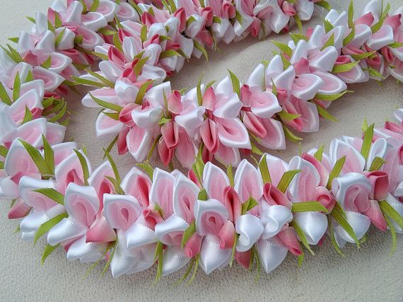 Cherry Blossom hawaiian ribbon lei