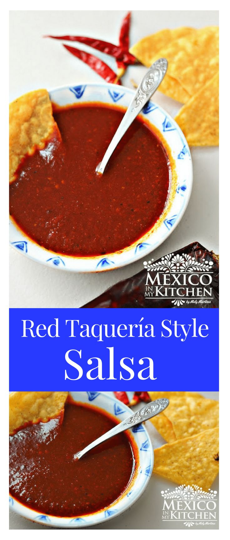 Red Taquería Style Salsa │ one of the essential ingredients for a good taco is to have a good salsa. The types of salsas used for tacos changes from every region of the country due to the ingredients available, or to the type of meat used in the tacos. #mexicanrecipes #mexicanfood #mexicancuisine #salsas