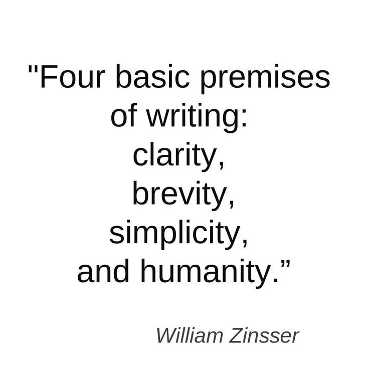 Simplicity by william zinsser thesis