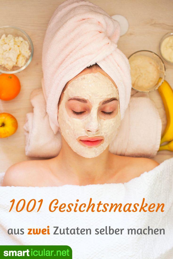 Gesichtsmasken sind die wohl am einfachsten selbst zu machenden Pflegeprodukte - essbar, aus Küchenzutaten, je nach Hauttyp beliebig erweiterbar.