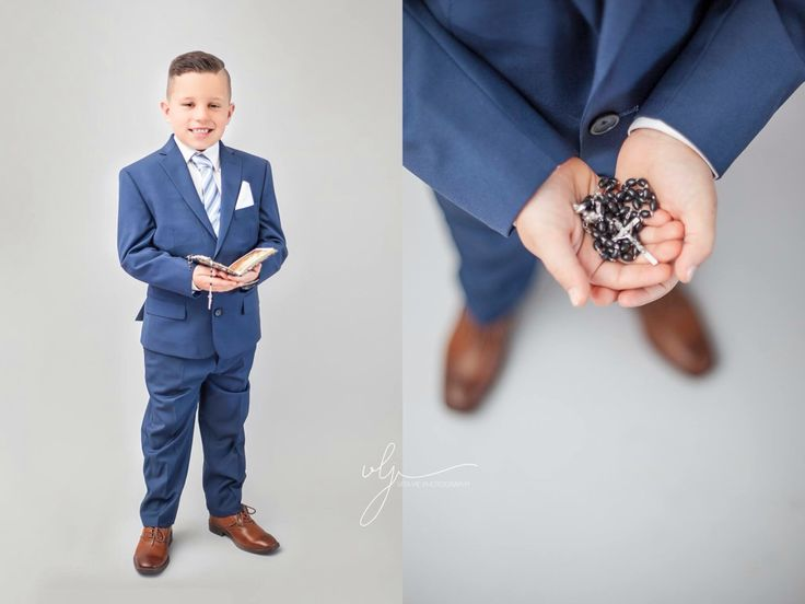 First communion portraits www.vitaviephotography.com Tags: Vita vie photography, boy, suit, modern, communion, portrait, studio, kids fashion
