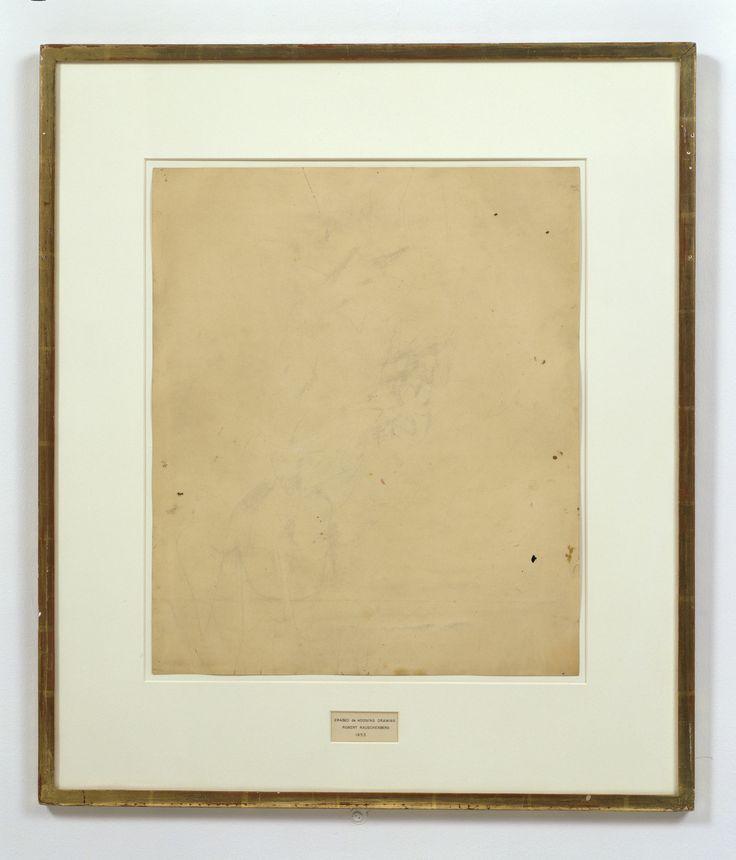 Robert Rauschenberg Erased de Kooning drawing