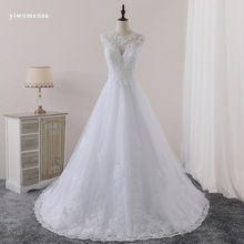 US $139.30 yiwumensa New Vestido de Noiva Lace A-Line Wedding Dresses 2017 Sccop Appliques Vintage wedding dress Robe de Mariage Brautkleid. Aliexpress product