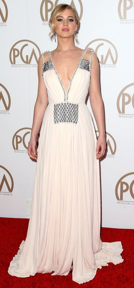Jennifer Lawrence in Prada at the Producers Guild Awards 2015