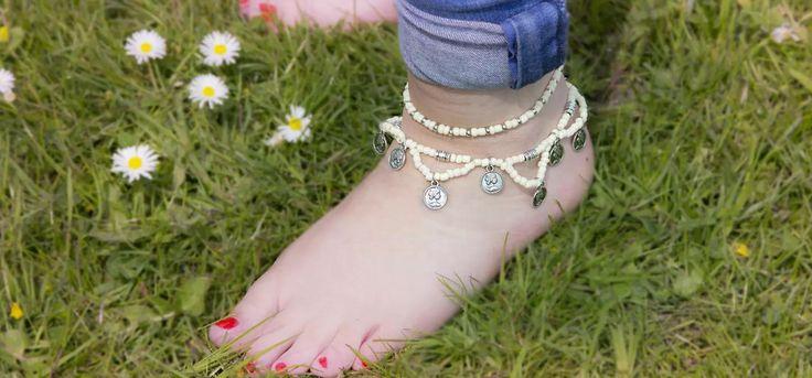 Leuke #voet #sieraden #maken voor de #zomer op het #strand !
