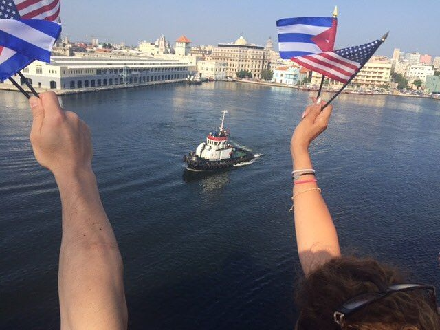 Happening now the Carnival ship Adonia arriving in Havana. Via @cnnmiamiphotog by cubareporter
