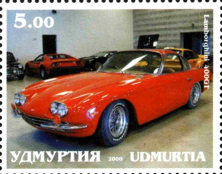 Stamp: Lamborghini 400GT (Cinderellas) (Udmurtia) Col:UD 2000-01/1