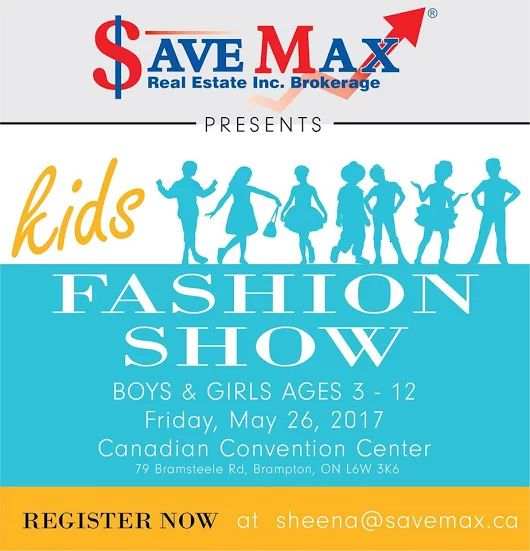 Save Max presents Kids Fashion Show Contest at Save Max 7th Annual Customer Appreciation Event  To Register your Kid for the #FashionShow Contest In the Event  (Ages 3-12 only), Please email sheena@savemax.ca