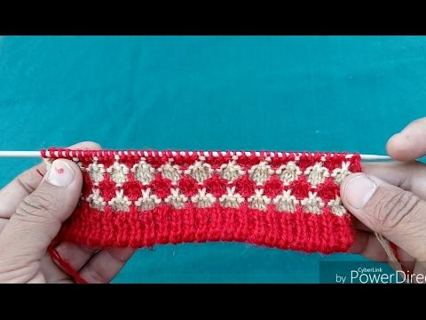 Easy Two Color Knitting Pattern No.23| Hindi - YouTube