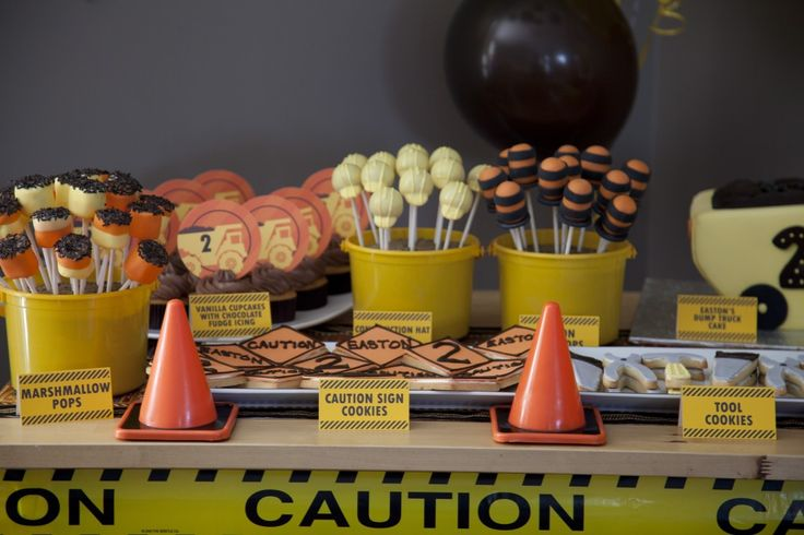 Construction Themed Party: Construction Birthday Parties, Construction Theme, 2Nd Birthday Parties, Party'S, Construction Parties, Theme Parties, Parties Ideas, Desserts Tables, Birthday Ideas