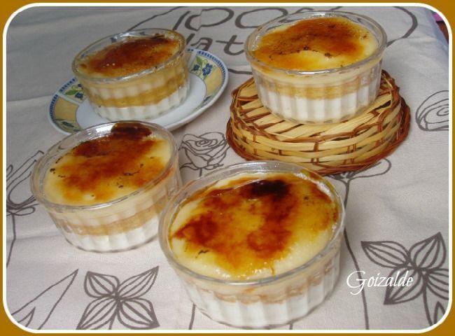 """Postre típico de Euskadi. Goxua o también escrito Goshua, en euskera significa """"dulce"""" y también """"rico"""". Si una sola palabra significa dulce y rico, ospodéisimaginar cómo …"""