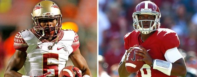 Florida State and Alabama are both in Pat Forde's Fab Four. (Getty Images)