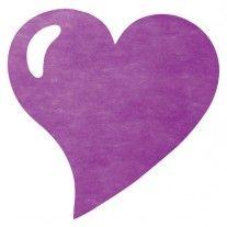 Set de table coeur en tissu intisse Prune