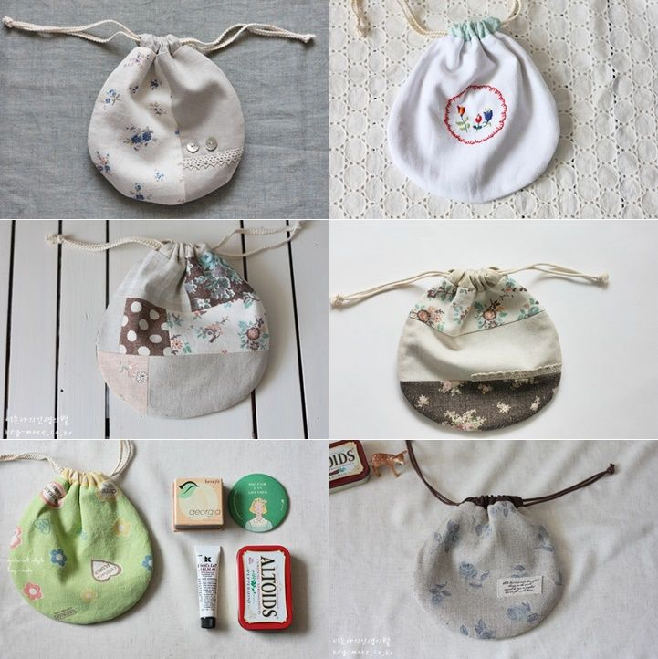 Lined Drawstring Bag Tutorial. How to Sew DIY Photo Tutorial