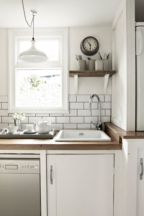 white subway tile dark grout kitchen crazed pinterest cornwall pottery and white subway. Black Bedroom Furniture Sets. Home Design Ideas