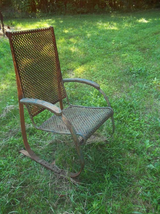 Vintage Lawn Chairs. See More. Rare Expanded Sheet Metal Spring Steel