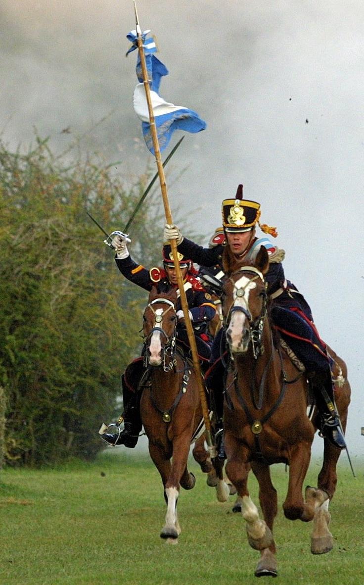 Granaderos a Caballo. Grenadiers Mounted Horses.