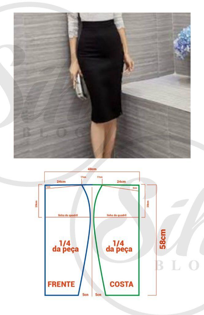 36f3eb7f9 SAIA LÁPIS MALHA, MOLDE SEM PENCE – SIHBLOG | molde | Sewing blouses ...