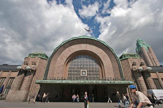 Main entrance of Helsinki Central railway station, Helsinki, Finland
