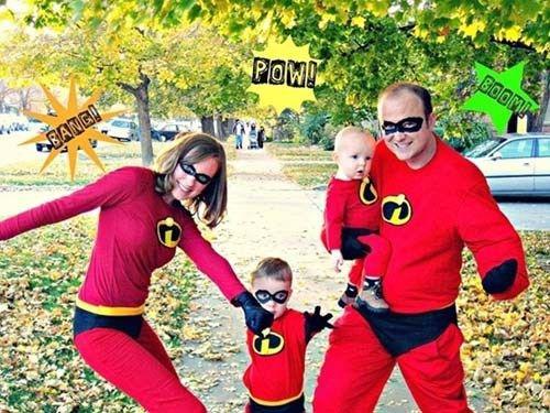 déguisement halloween famille les indestructibles