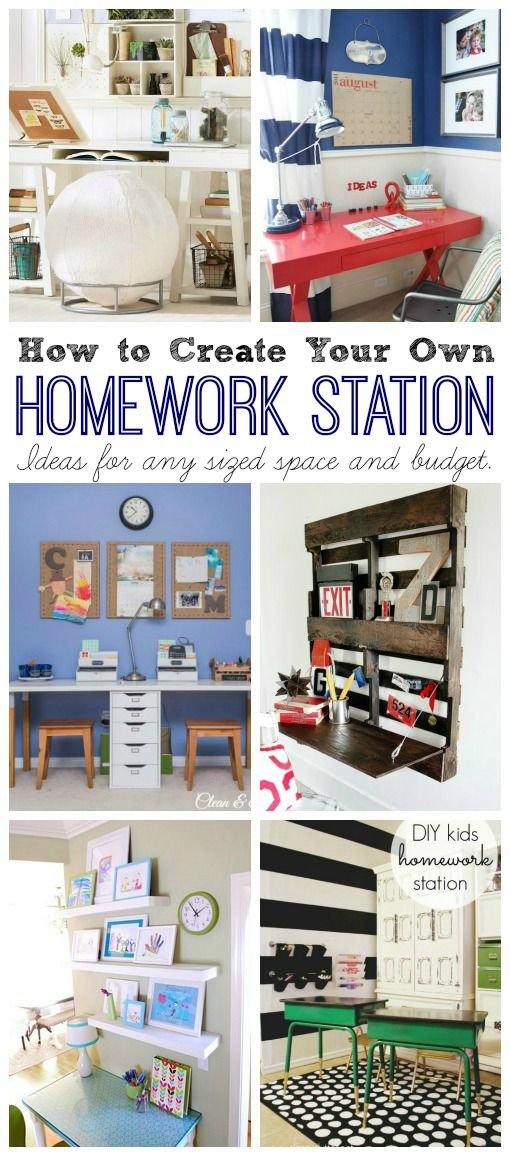 Homework Station Ideas - Clean & Scentsible