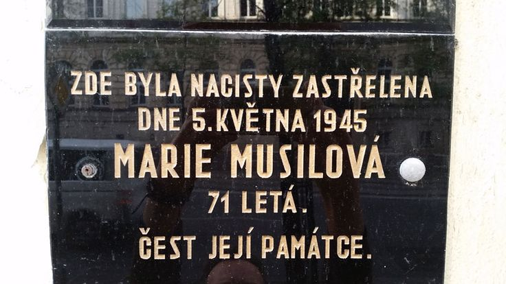 An example of a memorial to an individual killed on May 5th 1945 by the occupying Nazis in the last week of occupation.