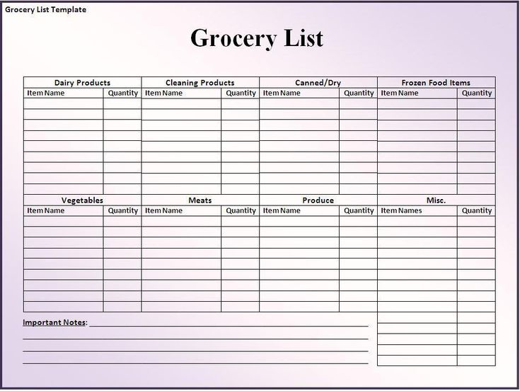 grocery list template home organization pinterest free printable planners and pdf. Black Bedroom Furniture Sets. Home Design Ideas