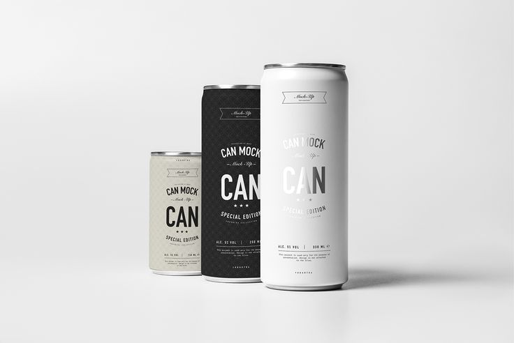 Can Mock-up on Behance