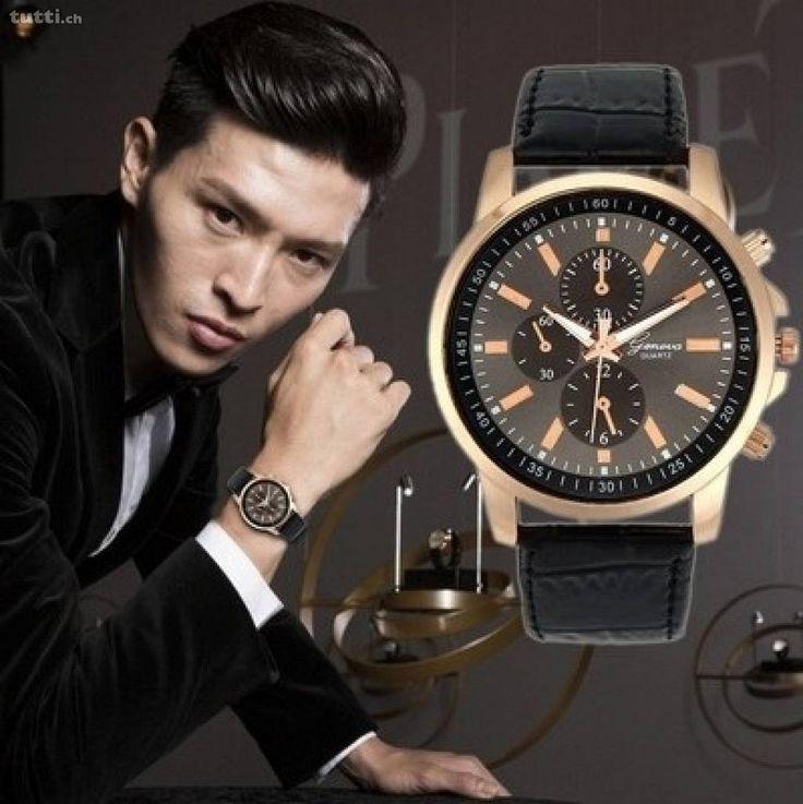 Fashion Unisex Geneva Armbanduhr Kupfer mit Kunstleder - Die Uhr ist brandneu und originalverpackt!  --> Kostenloser Versand! --> Diese Uhr ist wasser...