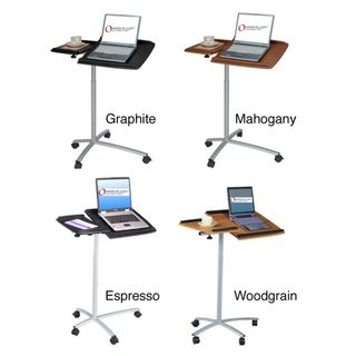 @Overstock.com - Adjustable Ergonomic Laptop Computer Cart Desk - The rolling ergonomic laptop desk is available in black or wood color. With this adjustable, angled mounting table, reading or doing work in bed will be a breeze. The lightweight, compact design and wheels makes this desk portable and functional.  http://www.overstock.com/Home-Garden/Adjustable-Ergonomic-Laptop-Computer-Cart-Desk/2605093/product.html?CID=214117 $75.99
