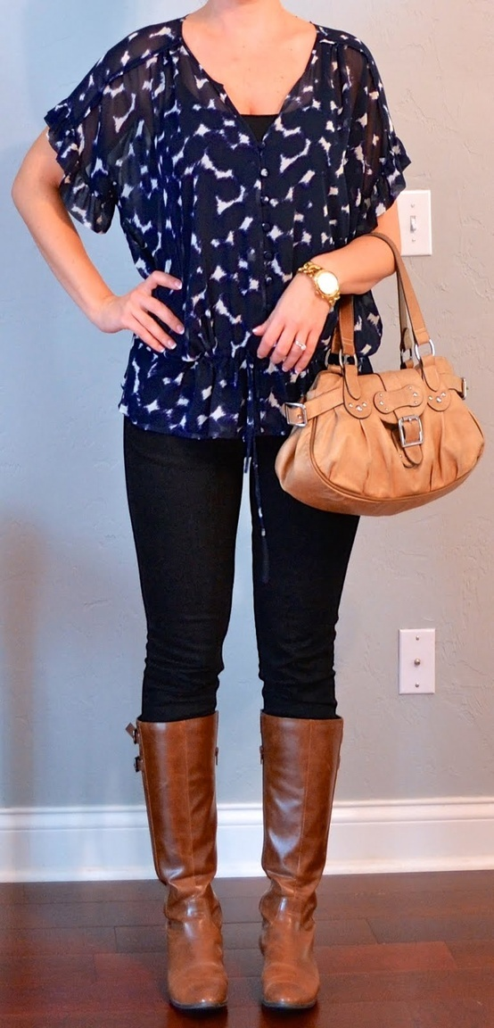 Cute Outfits With Navy Blue Leggings - The Else
